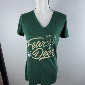 Milwaukee Bucks Fear the Deer tshirt